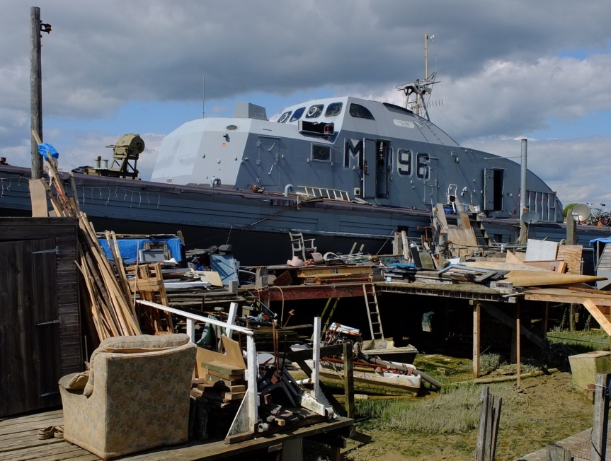 Shoreham-by-Sea: where warships go to rest.