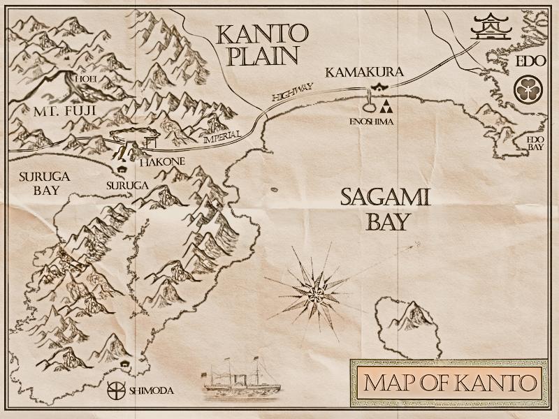Map of Kanto Plain