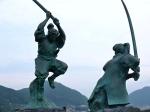 Kojiro & Musashi Monument at Ganryujima