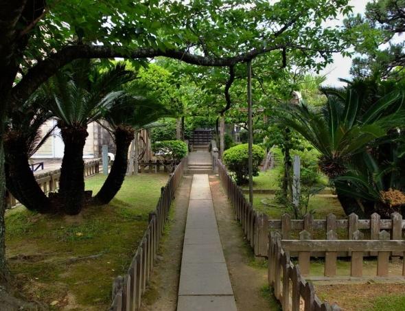 Von Siebold's gardens at Dejima
