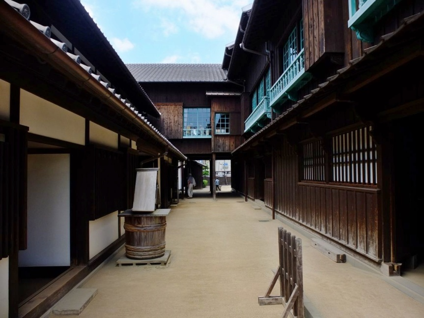 Dejima, where von Siebold spent seven years of his life (modern reconstruction)