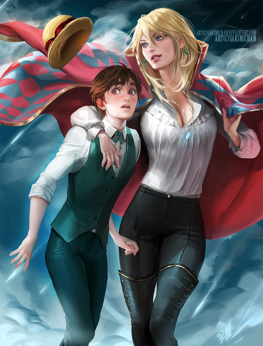 Female version of Howl and Male version of Sophie (Howl's Moving Castle)